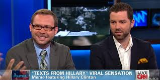 Texts From Hillary Meme - texts from hillary creators appear on cnn