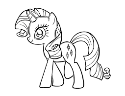 kids 7 pony coloring pages