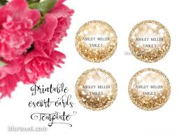 printable round escort cards round place cards template