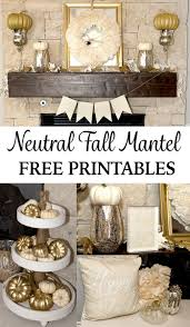 neutral fall home decor gold pumpkins lillian hope designs