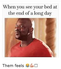 Them Feels Meme - when you see your bed at the end of a long day them feels