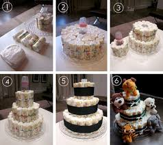 Diaper Cake Directions Made By Melis Baby Shower Diaper Cake