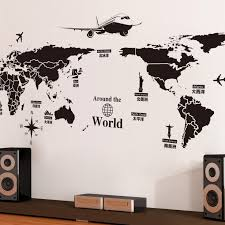 World Map Wall Sticker by Removable Wall Stickers Creative World Tour World Map