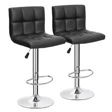 amazon com furmax black leather bar stools counter height modern