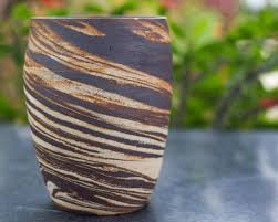 ceramic vase planter tall kopái paar indian craft store