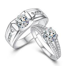 cheap his and hers wedding rings fashion his hers matching cz sterling silver rings