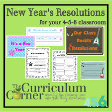 new year s resolutions books new year s resolutions goal setting the curriculum corner 4 5 6