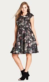 chic dress shop women s plus size vintage peony dress city chic usa