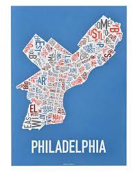 San Diego Neighborhood Map by Philadelphia Neighborhoods Map Posters U0026 Prints Modern Decor Or