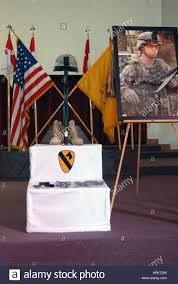 Army Service Flag A Rifle Combat Boots And Dog Tags The Traditional Decorations
