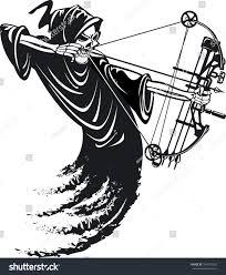 grim reaper bow hunting stock vector 546797452 shutterstock