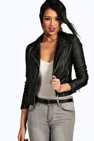 leather bike jackets for sale torah vegan leather biker jacket boohoo