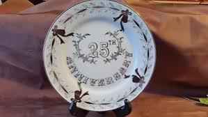 25th wedding anniversary plates lefton china 25th wedding anniversary plate ebay