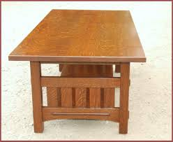 voorhees craftsman mission oak furniture coffee table with