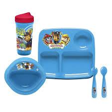 paw patrol 5 piece toddler dinnerware zak walmart