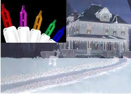 Multi Color Icicle Lights Set Of 300 Multi Color Everglow Icicle Christmas Lights White