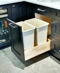 under sink trash pull out kitchen sink trash compactor younited co
