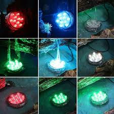 submersible led fountain lights 4 pcs lot multi color changing submersible led light battery