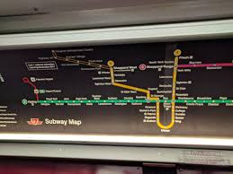 Ttc Subway Map Subway Maps Have Been Updated To Include New Line 1 Extension