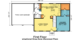 hatteras fine line homes hatteras cape cod home plan 1st floor with optional layout reversed plan