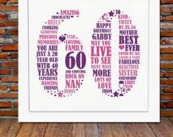 60 year birthday ideas personalized 40th birthday gift for him 40th birthday 40th gift