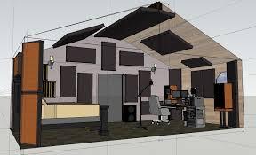 vaulted ceiling studio project acoustic treatments gearslutz