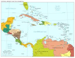 United States Map With States And Capitals Labeled by Labeled Map Of Central America Roundtripticket Me