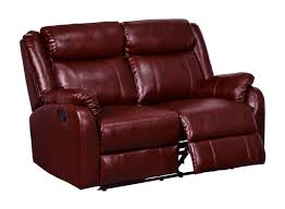 Recliner Sofa Sets Sale by Furniture Cherry Leather Dual Recliner Sofa For Living Room