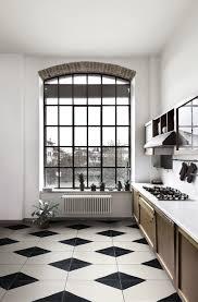 carrelage cuisine damier noir et blanc carrelage noir blanc stunning attrayant cuisine blanche et