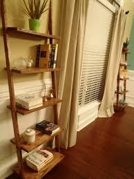 Wooden Ladder Bookcase by Lazy Liz On Less Ladder Shelves