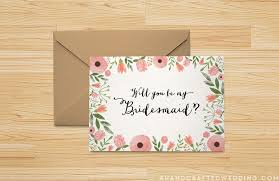 bridesmaid cards 19 free printable will you be my bridesmaid cards