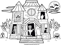 pictures of cartoon haunted houses haunted house clipart black and white clipartxtras
