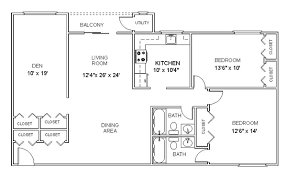 two bedroom two bath apartment floor plans apartment floor plans two bedroom den two bath apartments in