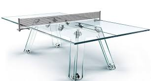 CalmaeGesso Is A Crystal Glass Ping Pong Table - Designer ping pong table
