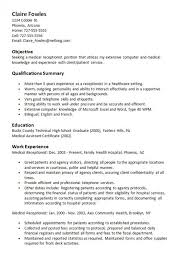 medical receptionist resume sample alexa intended for template 21
