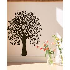 wall sticker brown photo picture frame tree vine branch removable