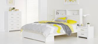 Queen White Bedroom Suite Carla Bedroom Furniture High Gloss White Finish Bed Includes