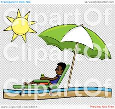 Beach Lounge Chair Png Royalty Free Rf Clipart Illustration Of A Black Stick Boy