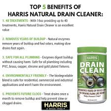 Home Remedies For Clogged Tub Drains by Amazon Com Harris Natural Enzyme Drain And Clog Remover