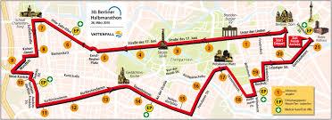 Berlin Map Berlin Marathon Map The Blog By Javier Berlin Half Marathon