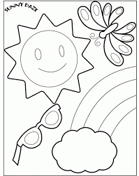 free preschool summer coloring pages coloring