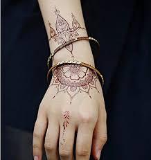 amazon com gc india henna style hand temporary tattoo sticker