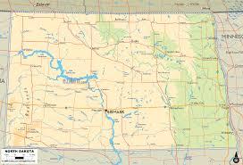 lake sakakawea map physical map of dakota ezilon maps