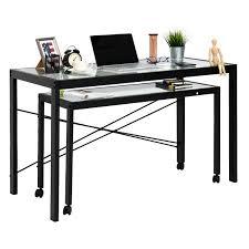 metal computer desks workstations shop for kinbor home office computer table desk workstation with