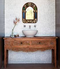 Bali Bathroom Furniture Guest Bathroom Balinese Table Converted To Vanity Bathroom 愚