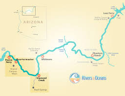 Lake Havasu Map 2 Day Grand Canyon White Water Rafting Camp Overnight In The Canyon