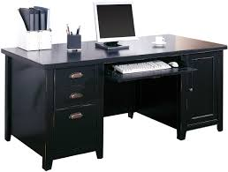 Double Pedestal Desk With Hutch by Tribeca Loft Black Office Furniture Double Pedestal Executive Desk