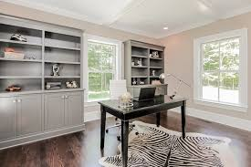 Built In Bookshelves With Desk by Gray Built In Bookcase Transitional Den Library Office Sir