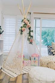 bohemian baby shower a lace teepee for the presents beautiful details for your
