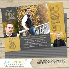 2015 graduation invitation announcement college or high